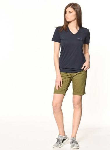Jack Wolfskin Crosstrail Kadın T-Shirt - 1801692-1910 Gri